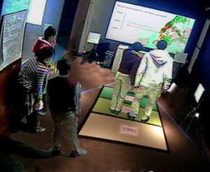 Visitors using CoCensus at NySci
